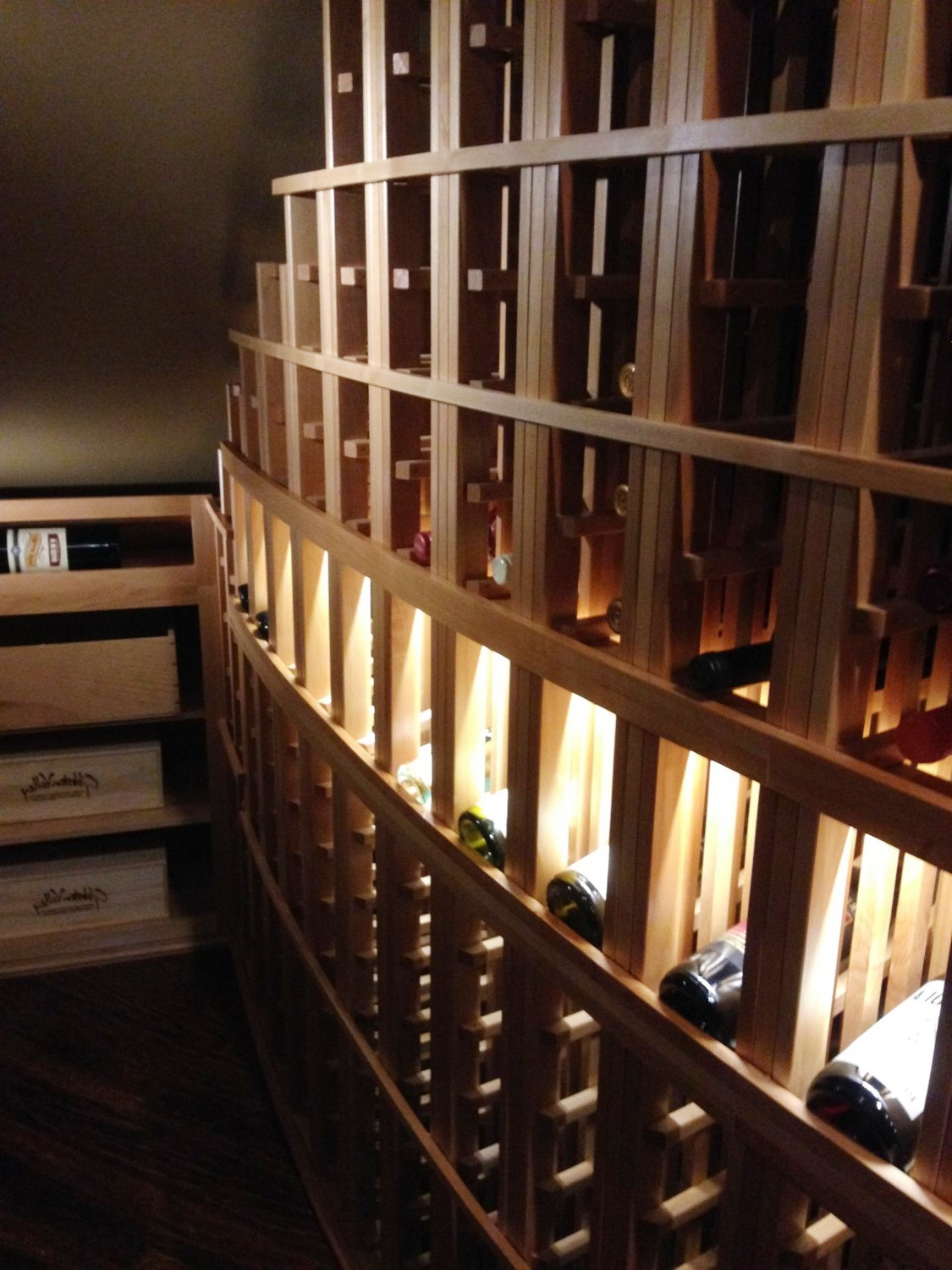 Under the Stairs Traditional Home Wine Cellar Tampa – Custom Wine ...